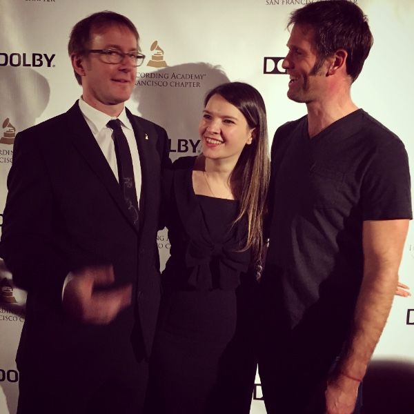 Michael Romanowski, Ingrid Serban and Forest Sun at the Grammy Nominee Party in San Francisco, CA
